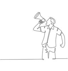 public speaking practice concept single vector image