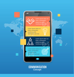 realistic 3d messenger communication concept vector image vector image