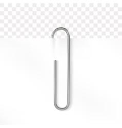Realistic paper clip metallic fastener vector