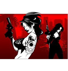 red street crime vector image vector image