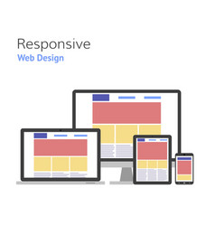 responsive design web development computer screen vector image