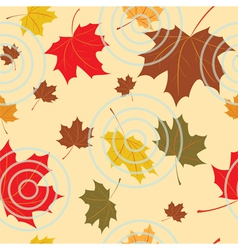 seamless autumnal background vector image vector image