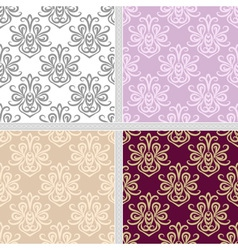 Seamless ethnic summer pattern set vector image