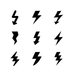 set icons of lightning vector image