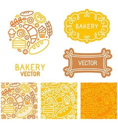 Set of logo design elements with icons vector