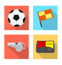 soccer and gear symbol set vector image