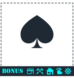 Spade icon flat vector