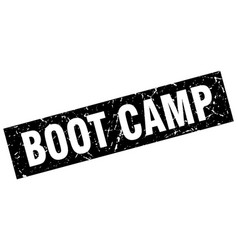 Square grunge black boot camp stamp vector