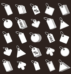 Tag icons set retail theme simplistic symbols col vector