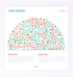 train station concept in half circle vector image