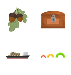 Travel transport and other web icon in cartoon vector