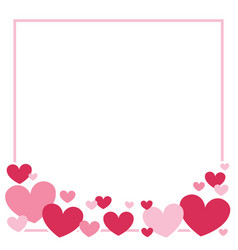 Valentines day heart border background vector