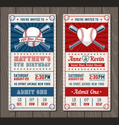 vertical baseball invitation vector image