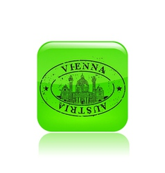 vienna stamp icon vector image