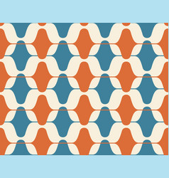 vintage seamless background retro pattern vector image
