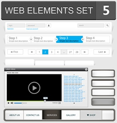 web elements set 5 vector image