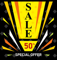 web sale banner sale discount up to 50 vector image