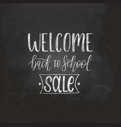 Welcome back to school sale handwritten vector