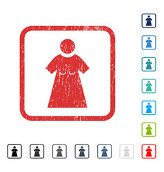 Woman figure icon rubber watermark vector