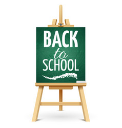 wood chalk easel or school board with chalk back vector image