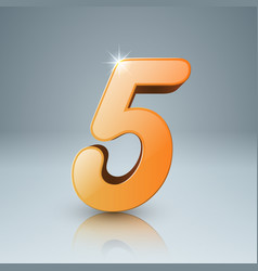 yellow five icon vector image