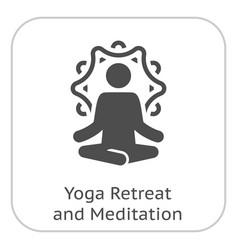 yoga retreat and meditation icon flat design vector image