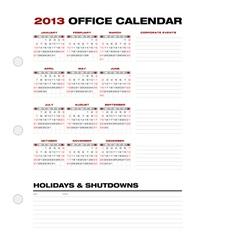 2013 Clean Office Calendar vector image