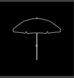 beach umbrella white color icon vector image vector image