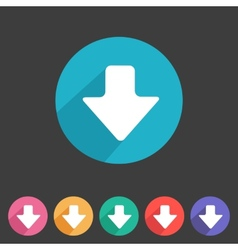 Flat game graphics icon arrow down vector image vector image