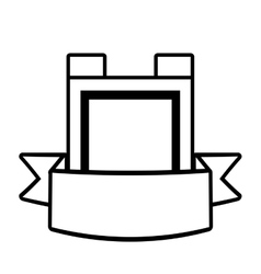 Shield guarantee premium label outline empty vector