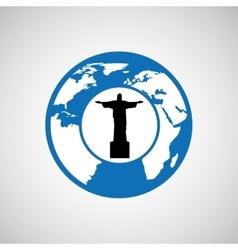 traveling world brazil monument design graphic vector image