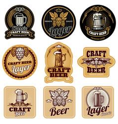 vintage beer bottle labels vector image