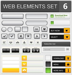 Web elements set 6 vector image vector image
