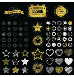 Collection of premium design elements vector image vector image