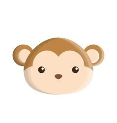 cute monkey isolated icon vector image vector image
