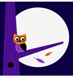 Halloween night Owl template with copy space vector image