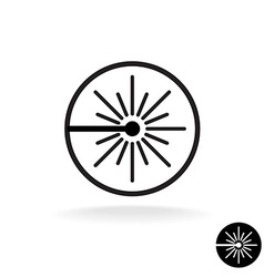 Laser black icon Laser beam flash sparks linear vector image