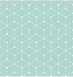 Blue and white retro cubes pattern vector image vector image