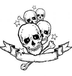 Heavy metal rock banner tattoo vector