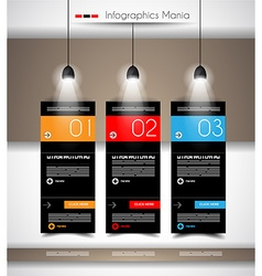 Infographic timeline with Gear mechanic concept vector image vector image