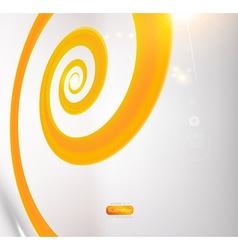 Orange spiral design vector