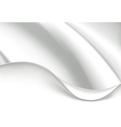 White wave background vector image vector image