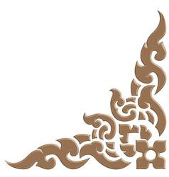 3d thai pattern carve vector image vector image