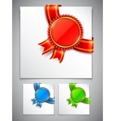 Award Medals Corners vector image