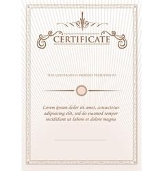 Vintage retro frame certificate background design vector