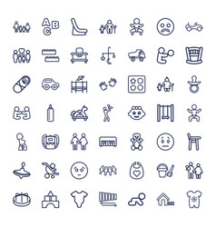 49 child icons vector