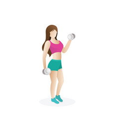A woman is doing fitness vector