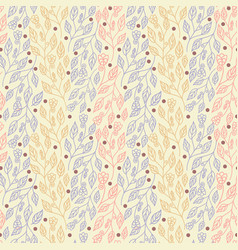 Abstract floral seamless pattern with leaves vector