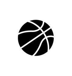 basketball icon black on white vector image