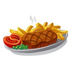 Beef steak vector